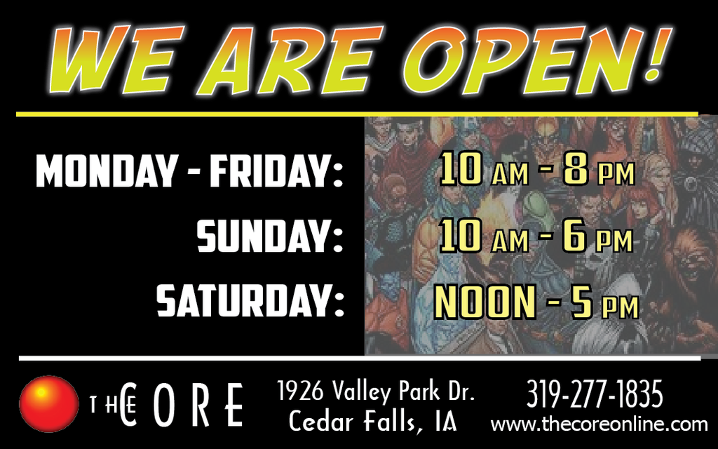 The Core is happy to return to regular business hours!!