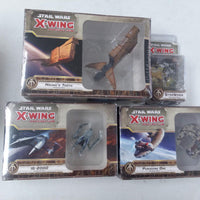 Star Wars X-Wing Lot of 4 SCUM AND VILLANY Expansion Packs