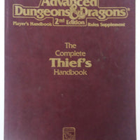 AD&D 2nd Edition ~ THE COMPLETE THIEF'S HANDBOOK ~ TSR 2111 (WORN)