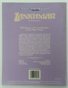 AD&D 2nd Edition ~ WONDERS OF LANKHMAR ~ TSR 9295