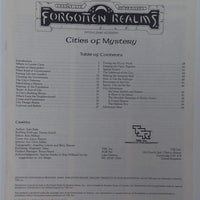 AD&D 2nd Edition Forgotten Realms ~ CITIES OF MYSTERY ~ TSR 9262
