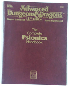 AD&D 2nd Edition ~ THE COMPLETE PSIONICS HANDBOOK ~ TSR 2117