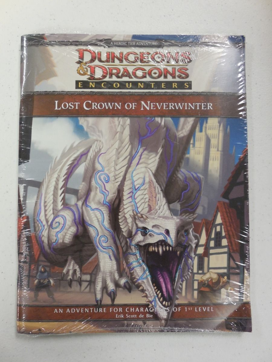 D&D 4th Ed LOST CROWN of NEVERWINTER 2011 Wizards Play Network Encounters