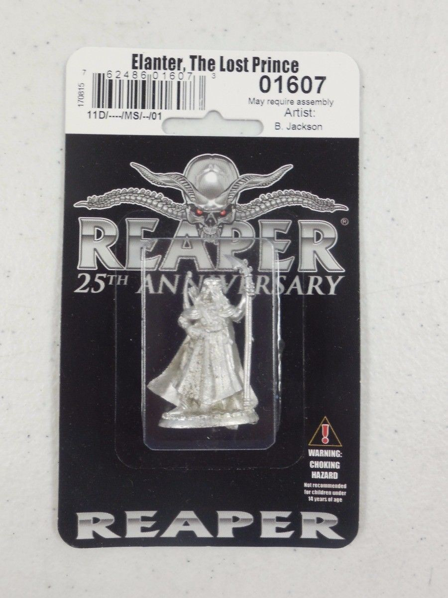 REAPER 25th Silver Anniversary Elanter, The Lost Prince Miniature 01607