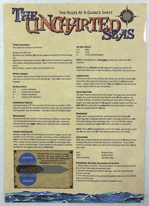 UNCHARTED SEAS RULES For Fantasy Naval Combat RULEBOOK Spartan Games 2009 Unused