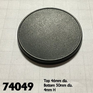 Reaper Miniature Bases ~ 50mm Round Gaming Base  74049