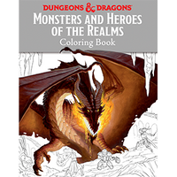 D&D Coloring Book ~ Monsters & Heroes of Realms