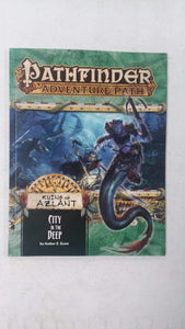 Pathfinder Adventure Path Lot RUINS OF AZLANT Part 1 2 3 4 5 6 + Poster Map Folio