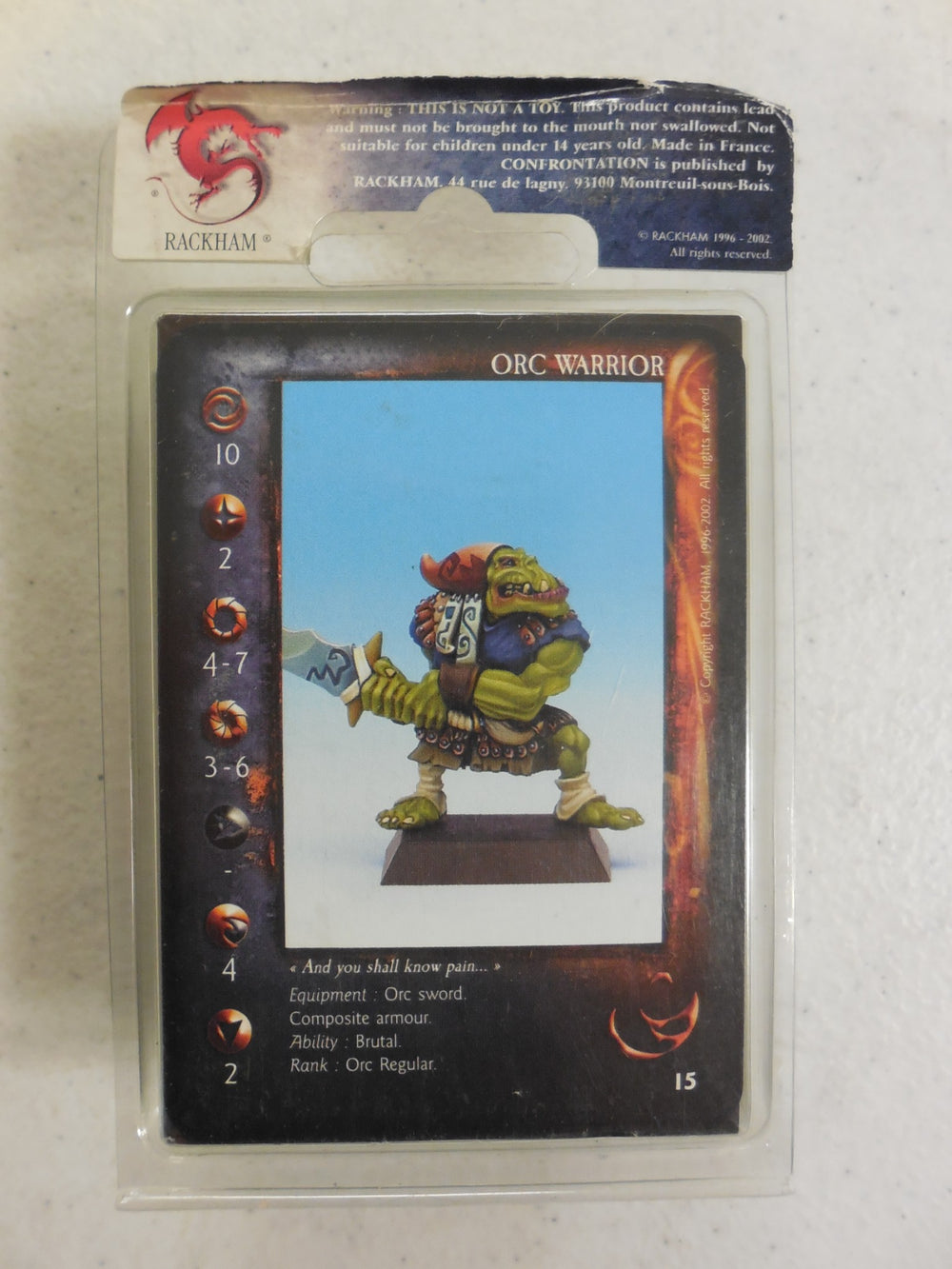 Confrontation ~ ORC WARRIOR ~ Rackham Miniature ORRG 01