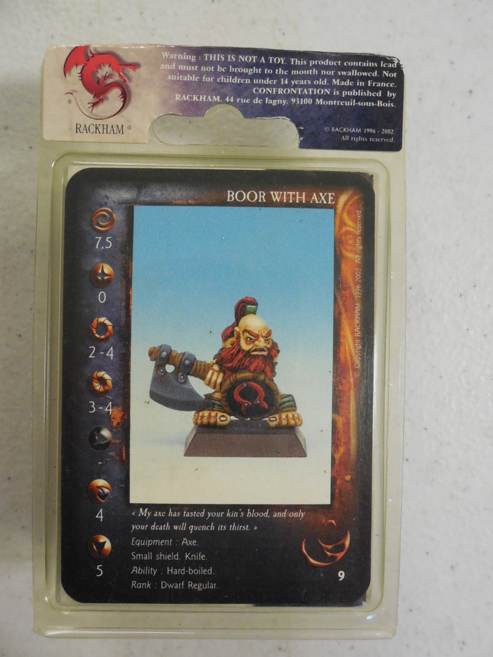 Confrontation ~ BOOR WITH AXE ~ Rackham Miniature NARG 02