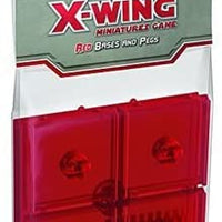 Star Wars X-Wing ~ Bases and Pegs ~ Red