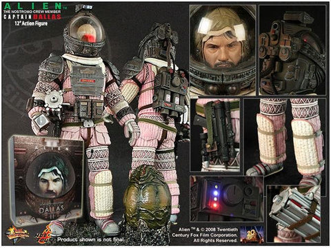 Hot Toys ALIEN Nostromo DALLAS 1/6 Figure 2008 MIB SEALED Aliens AVP Sideshow