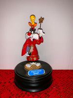 Sylvester & Tweety THE SORCERER Ron Lee MUSIC BOX Looney Tunes FIGURE Statue1992