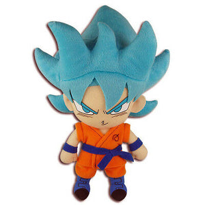 Plush Dragon Ball Super Z Resurrection F Super Saiyan Blue SSGSS Goku Official [box #]