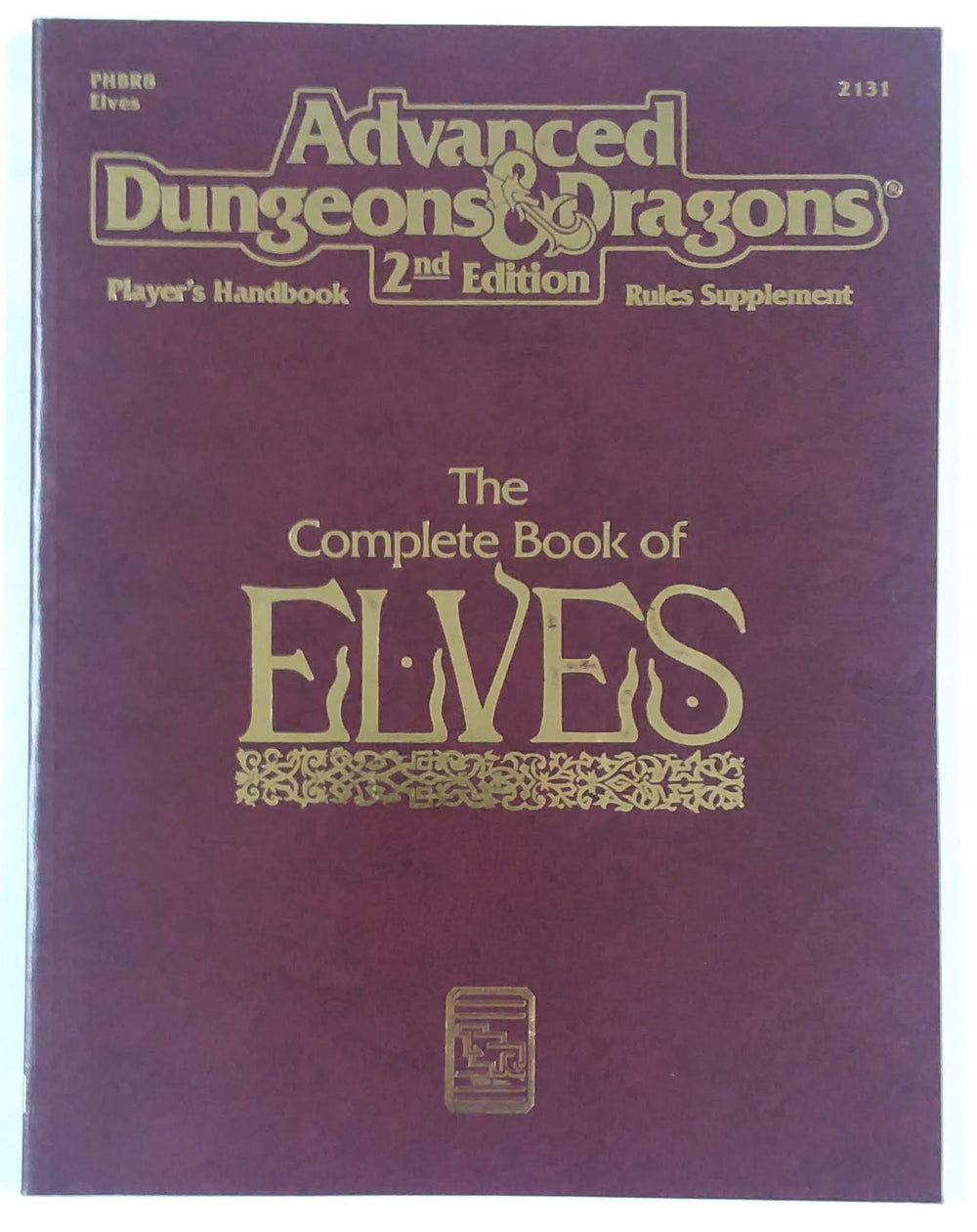 AD&D 2nd Edition ~ THE COMPLETE BOOK OF ELVES ~ TSR 2131
