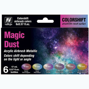 Vallejo Colorshift Acrylic Airbrush Paint Set ~ Magic Dust