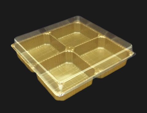 Open Minded 4 Mooncake Tray (50 per lot) - Happypack Purchasing
