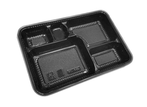 Enhance 4 Compartment + 1 Sauce Bento Packaging (25 per lot) - Happypack Purchasing