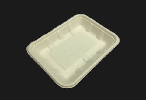Rectangular BioEarth® Tray 240*130*25mm (10,000 per lot) - Happypack Purchasing
