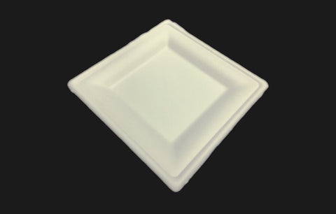 Square BioEarth® Tray 135*135*20mm (10,000 per lot) - Happypack Purchasing