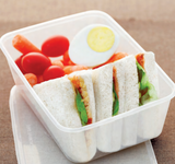 Rectangular Dual Compartment Containers Thinwall (10,000 per lot) - Microwave-safe - Happypack Purchasing