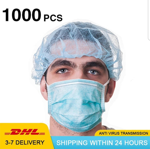 Disposable Surgical Medical Face Masks to Combat Covid-19. Delivers in 3-7 Days via DHL (1000 pieces per lot)