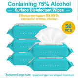Alcohol Anti-Bacterial Disinfectant Wipes for Covid (1/10/50 pieces per box)