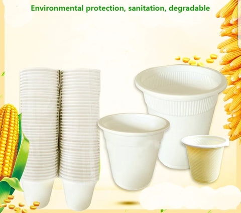 60/130/160/220/450/650ml Corn Cup Drink More Biodegradable (50 per lot)