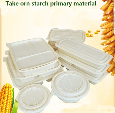 800/1000ml 1/3 Compartment Corn Bento OR 400/600/800ml Bowl More Eco More (50 per lot)
