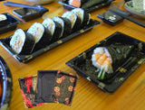 16/20/22/27cm Rectangle/Fan Printed Sushi Platters (50/200/400/600 per lot)