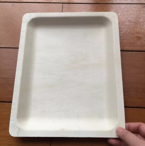 Giant 27cm or 20cm Square Wood Serving Plate Platter Festivity More (10,000 per lot)