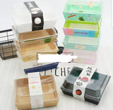 14/19cm Square Paper Printed Box with Lid Paper more (100/500 per lot)