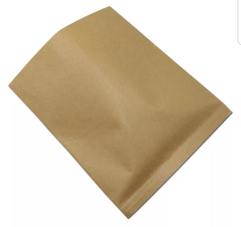 Square Greaseproof Bag in White or Brown Kraft  (50/600/800/1000 per lot)