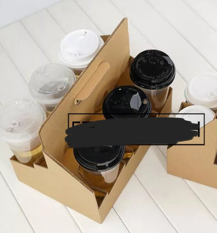 Corrugated Recycled Paper Cup Holder Drink More (10/150/300/500/600 per lot)