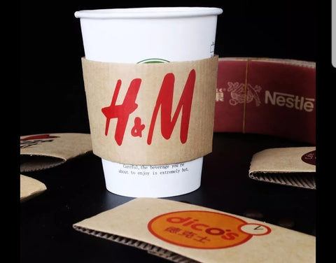 Sleeves in White/ Brown Paper Drink more (500/1000/2000/3000 per lot)