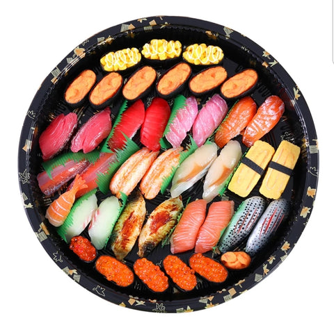 Jumbo 20/25/28/38cm Printed Platter Tray Middle Compartment Round or Square festivity more sushi more (20/50/200 per lot)