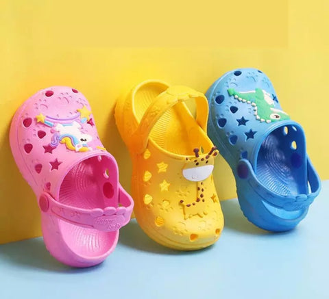 Courageous Rubber Slip On Sandal All Styles Ultra Comfortable Good Quality Stick Charms Kids Little Children Shoes Kid Mall (1 pair per lot)