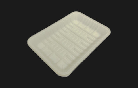 Rectangular BioEarth® Tray 190*135*20mm (10,000 per lot) - Happypack Purchasing