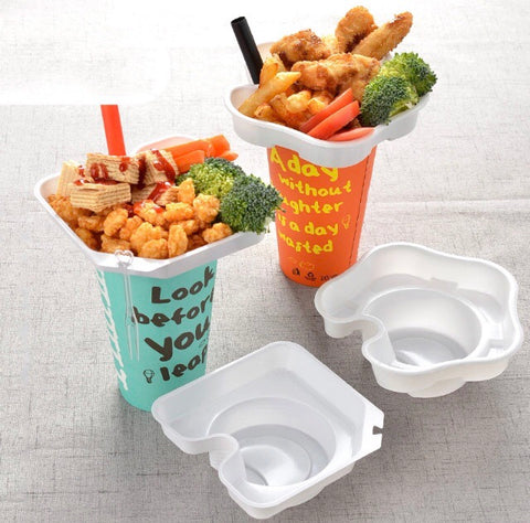 Cute Snack Bowl in Cup 3 designs Drink more bowl more  (50 per lot)