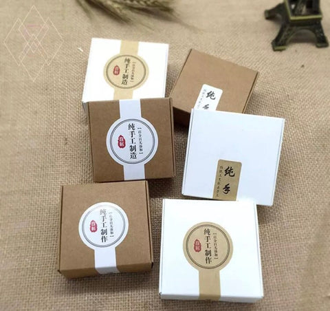 Kraft Paper Mooncake Box mooncake more (50 per lot)