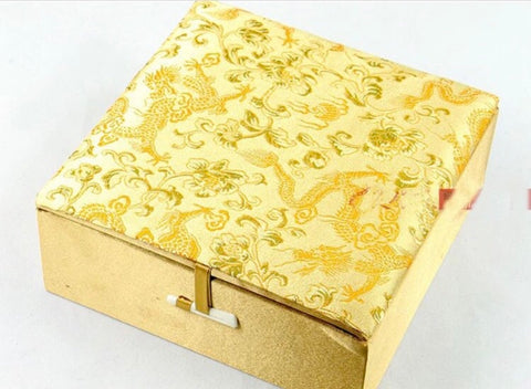 Dragon Mooncake Silk Cushion Box fits 4 Snowskin Mooncake or 4 regular mooncake Mooncake more (2 per lot)