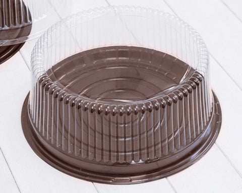 8 inch round cake box in Brown Base plastic more (50 per lot more)