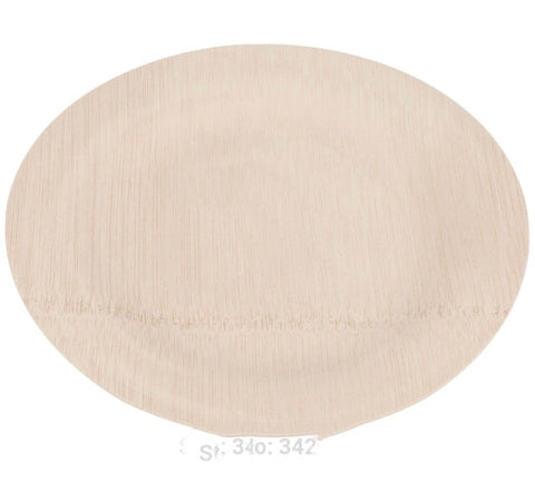 "5""/14cm Round Wood Serving Plate More Eco (100 per lot)"