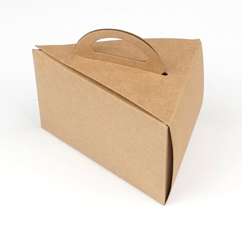 Kraft Brown Triangle Cake Box Paper more (100 per lot)
