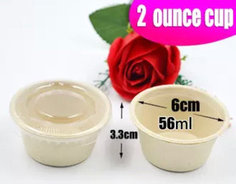 Pulp Sauce Cup 60ml Biodegradable Eco more sauces more (100 per lot)