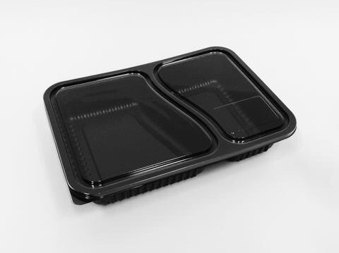 Hope Bento Packaging 2 Compartment Pack (25 per lot) - HappyPack.SG