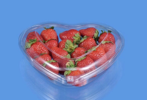 L Valentines' Day Heart Shaped Fresh Fruit Box (200 per lot)