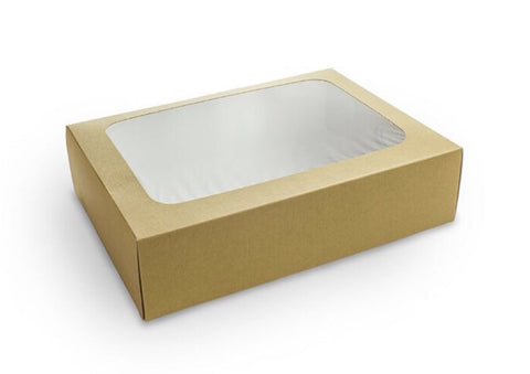Unity Regular Platter Box and Paper Kraft Insert 31x23x8cm (50 sets per lot)