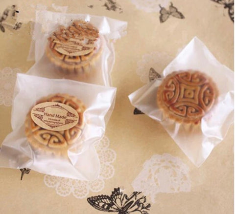 Self Adhesive Frosted Self Seal Bag plastic more mooncake more Cookie Snack Packaging mooncake more (200 per lot more)