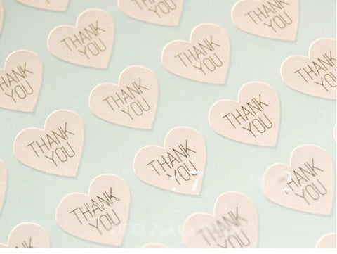 """Thank You"" Sticker more (100 per lot)"